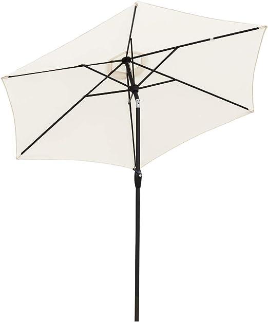 Sekey® sombrilla Parasol para terraza jardín Playa Piscina Patio diámetro 270 cm Protector Solar UV50+ Crema: Amazon.es: Electrónica