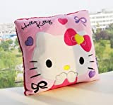 "U-beauty Pink Hello Kitty Face Square 14""x14"" Cushion Pillow"