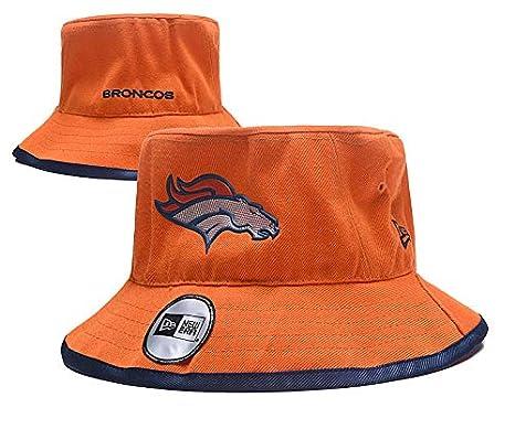 cfc21d18a RongJ-store Football Team Pattern Fashion Men's Training Bucket Hat  Fisherman Cap Bucket Hat (Denver Broncos)