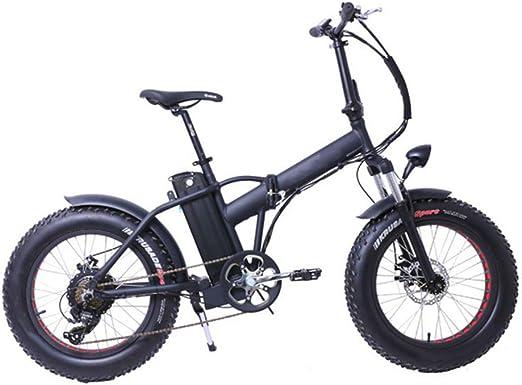 ZHaoZC Bicicleta eléctrica de 20 Pulgadas, Moto de Nieve con ...