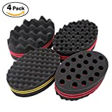 #2: 4 Pcs Varied Small Hair Twist Sponge Brush For Dreads Locking Twist Afro Curl Coil Wave Hair Care Tool (Blend)