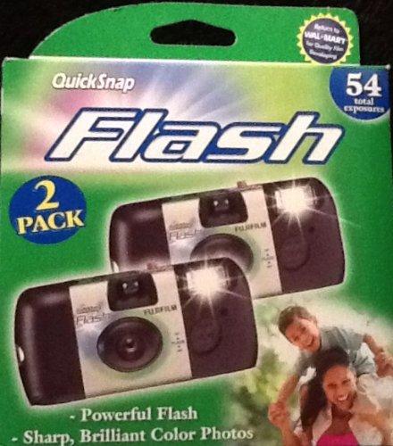 Fujifilm QuickSnap Flash 800 35mm Single Use Camera, 2pk