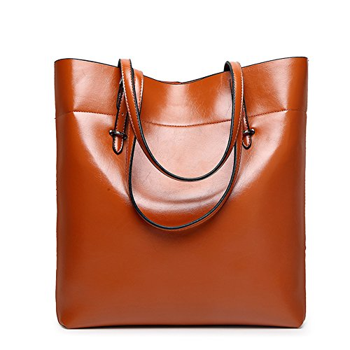 Ladies Soft Leater Tote Bags Hobo Handbags Top Handle Bag Cute Satchels Purse (Leather Hobo Tote)