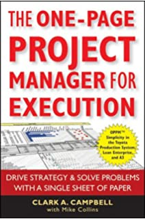 The New One-Page Project Manager: Communicate and Manage Any ...