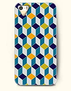OOFIT Phone Case for Apple iPhone 4/4S -- Blue And Yellow Cube -- Geometric Pattern by icecream design
