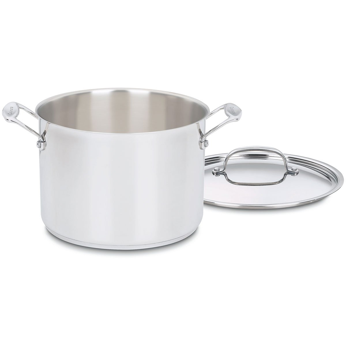 Chef's Classic Stainless Steel Stock Pot with Lid Size: 8-qt.