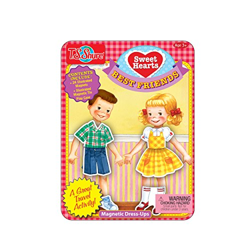 T.S. Shure Sweethearts Best Friends Mini Dress-up Tin Magnetic Playset