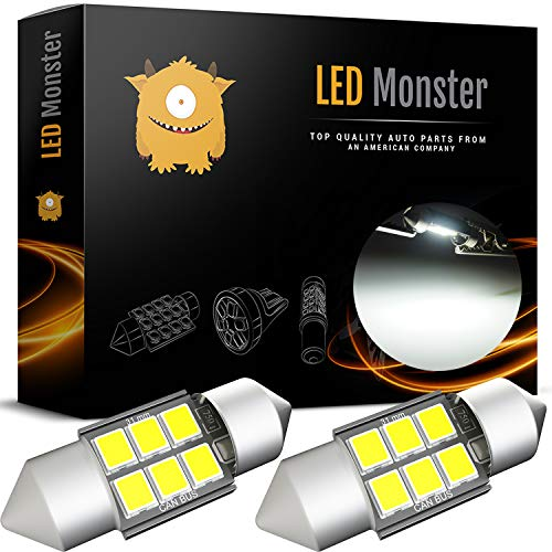 LED Monster Extremely Bright 400 Lumens 3020 Chipset Canbus Error Free LED Bulbs for Interior Car Lights License Plate Dome Map Door Courtesy 1.25 31MM Festoon DE3175 6428 Xenon White