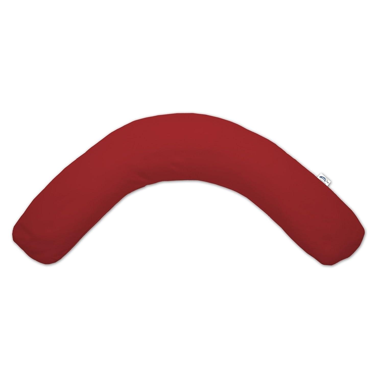 Theraline Das Komfort Stillkissen Dinkel 180 cm inkl Bezug Jersey rot