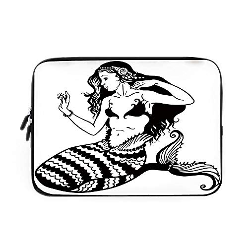 Mermaid Decor Laptop Sleeve Bag,Neoprene Sleeve Case/Mermaid for sale  Delivered anywhere in USA