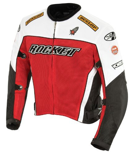6897770312182 Joe Rocket Men s UFO 2.0 Mesh Motorcycle Jacket (Red