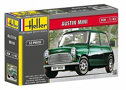 Heller Austin Mini Rallye Car Model Building Kit