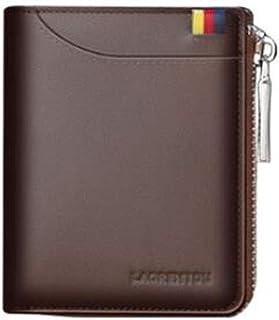 Kehuitong Billetera, Adecuada para Hombres de Negocios Cortos y Casuales, Cartera de Cuero, Color, Negro, tamaño, (12 * 2.8 * 9.7) cm Latest Style Wallet (Color : Brown)