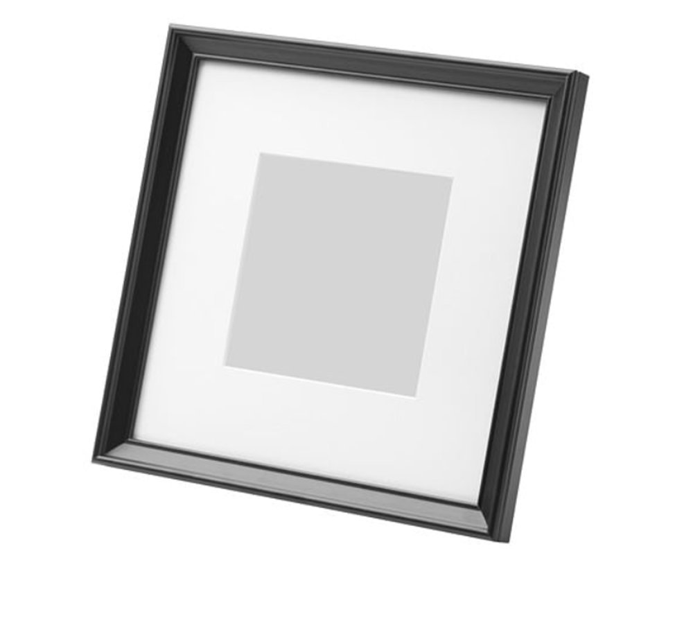 HEMMINGSBO KNOPPÄNG Square Frame Frame Made To Display Pictures 9 by 9 inch Without Mat or Mat 5 by 5 inch black