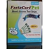 FastaCare Pet Blood Glucose Test Strips with Sterile Lancet (50 Test Strips + 50 Lancets)
