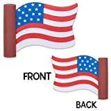 CoolBalls® Cool Patriotic American Waving Flag Car Antenna Topper Antenna Ball Mirror Dangler
