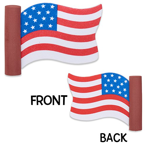 Coolballs Cool Patriotic American Waving Flag Car Antenna Topper - Antenna Ball - Rear View Mirror Dangler - Auto Accessory TennaTops®