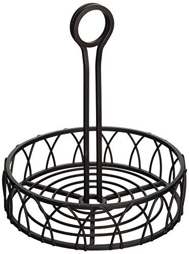 Spectrum Diversified Twist Condiment Stand, Black Condiment Basket