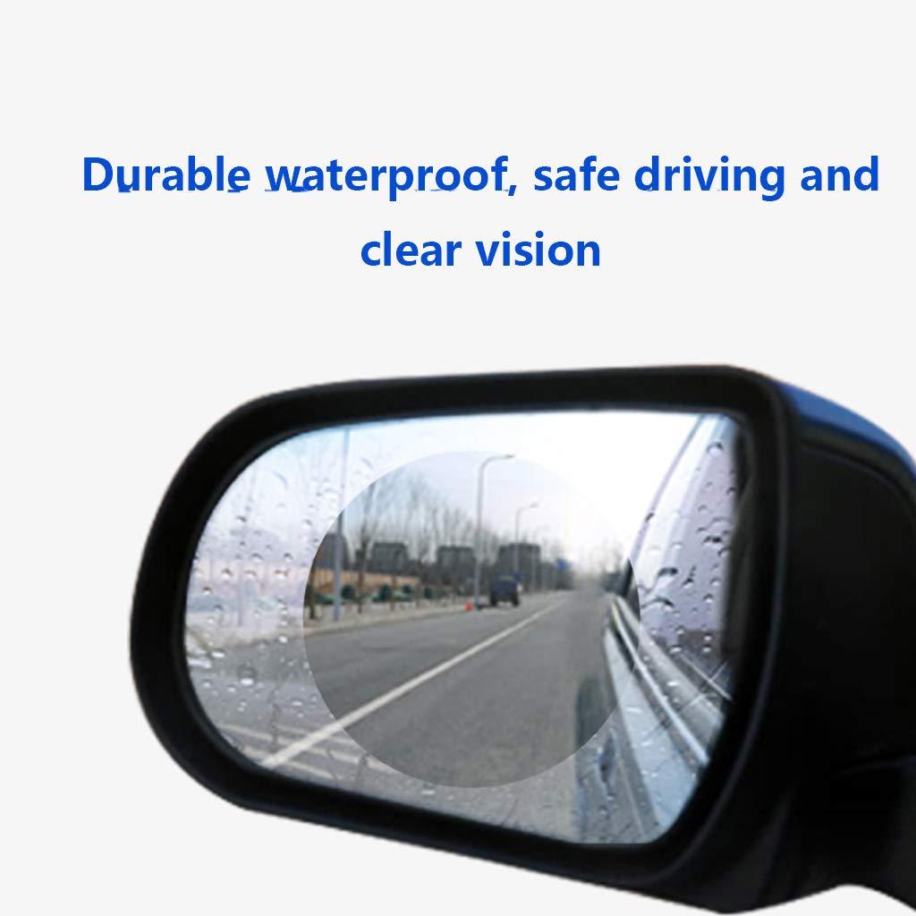 per specchietto retrovisore antipioggia anti appannamento confezione da 2 A Transparent pellicola protettiva per specchietto retrovisore auto Yuaierchen