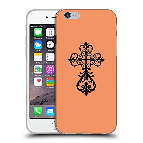 GoGoMobile Coque de Protection TPU Silicone Case pour // Q07810607 Christian Cross 6 Mandarine // Apple iPhone 6 4.7""