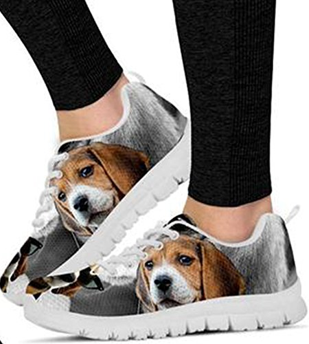 Casual Women Dog Cute Sneakers 8 Men Beagle Brand Print 0R6Iqq