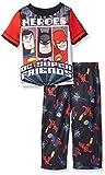 Justice League Boys' Little Superhero 2 Piece Pajama Set, Red, 4T