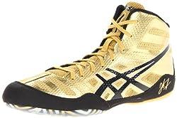 Asics Men's Jb Elite Wrestling Shoe,olympic Goldblackwhite,11 M Us44 Eu