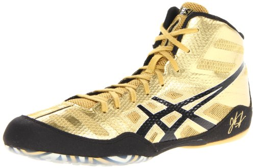 ASICS Men's JB Elite Wrestling Shoe,Olympic Gold/Black/White,9 M ...