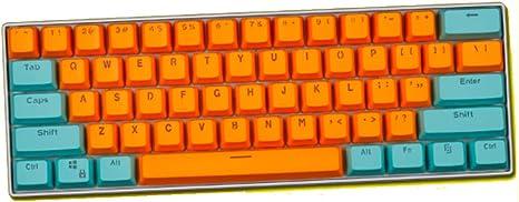 WYIYI Teclado mecánico KeyCaps 61 PBT OEM ANSI Perfil de ...