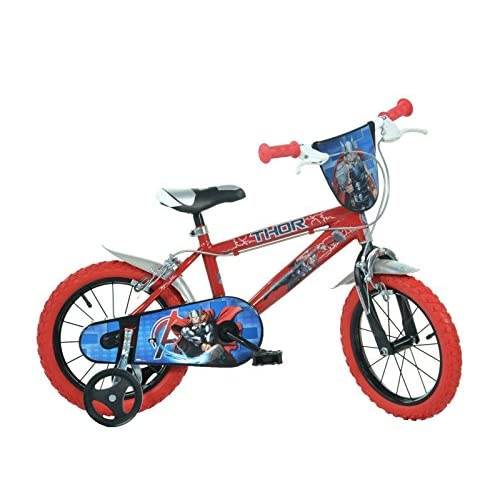 Image of Balance Bikes Dino Bikes 414U-THR Marvel Thor 14' Bicycle, Multi-Colour, 60 x 80 cm