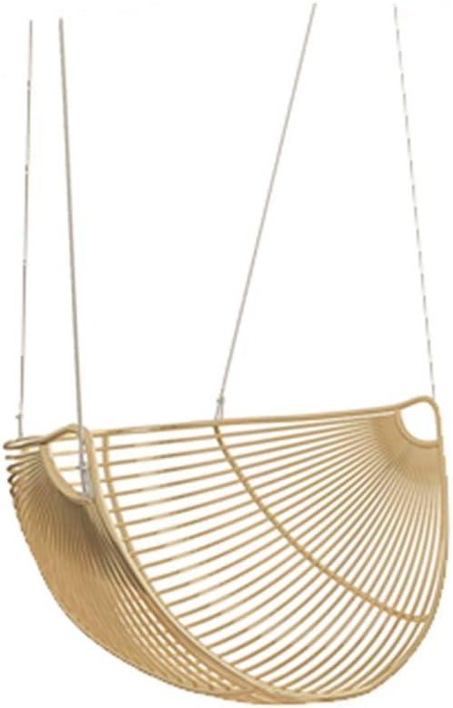 ZHAO YING Silla Colgante de Encaje con Hamaca Cuna de Hierro Forjado con Borla Interior/Exterior, Patio, Terraza, Patio, Jardín (Color : Gold)