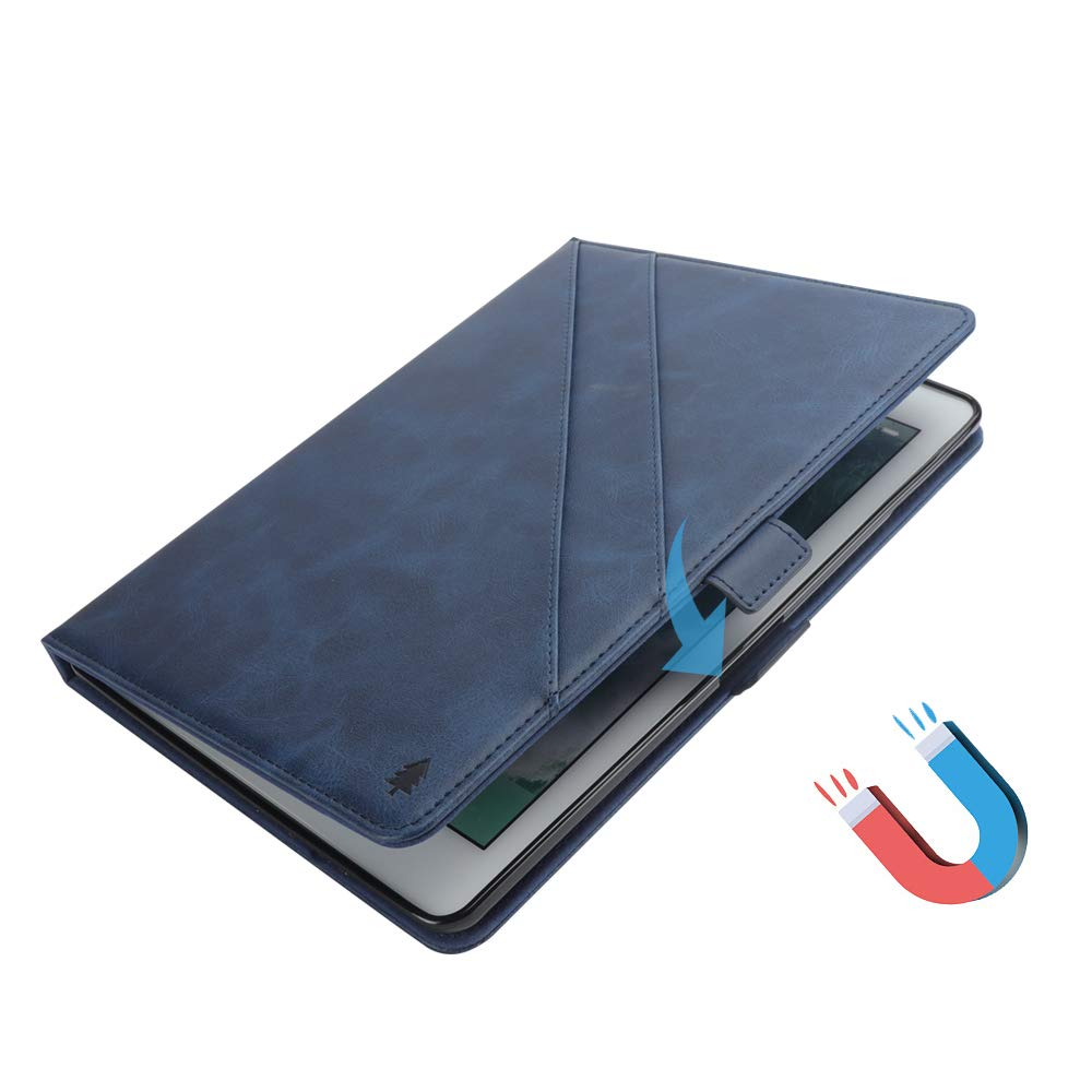 New iPad 12.8'' Case for Men, YiMiky Luxury Book Style Folding Stand Case with Document Pocket Card Slots Folio Smart Case Protective Cover Slim Stand Shell for iPad Pro 12.8 Inch - Dark Blue by YiMiky (Image #7)
