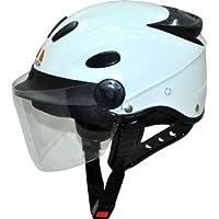Kart Trade Aeroh Urban Half Face Unisex Helmet (White,M)