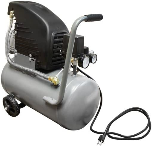 6 Gallon Horizontal Tank Air Compressor 2 Hp Motor 115 PSI Oil Lubricated
