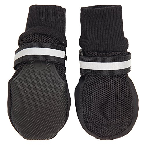 HiPaw Breathable Mesh Dog Boots Nonslip Rubber Sole for Summer Hot Pavement
