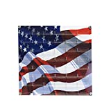 Source One 48-Pocket Wall Mount Business Card Holder (American Flag)