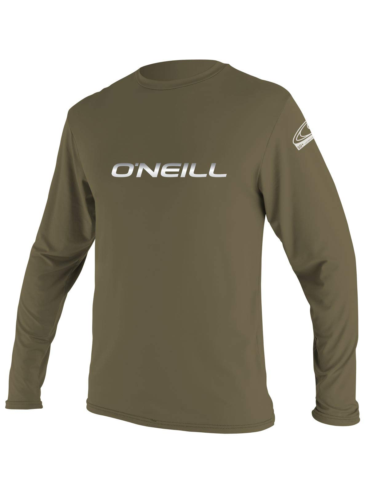 O'Neill Men's Longsleeve Basic Skins Rash Tee (Khaki, Medium) by O'Neill Wetsuits