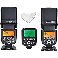 Yongnuo YN-560IV 2PCS Wireless Universal Flash Speedlite kit + YN560-TX LCD Flash Trigger Remote Controller For Canon DLSR Cameras