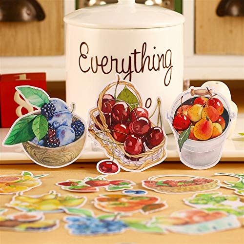 18pcs Creative Cute self-Made Summer Fruits Food Stickers Scrapbooking Stickers/Decorative Sticker/DIY Craft Photo Albums (PVC)