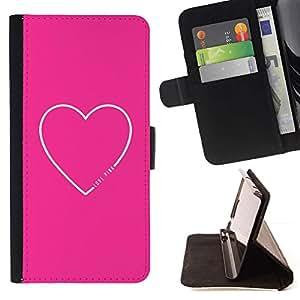 For Samsung Galaxy Note 4 IV Case , Corazón Cita del amor de texto minimalista- la tarjeta de Crédito Slots PU Funda de cuero Monedero caso cubierta de piel