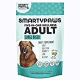 Cheap SmartyPaws Dog Supplement Chew- Glucosamine & Chondroitin + MSM for Joint Support, Fish Oil Omega 3 (EPA & DHA), Probiotics, Organic Turmeric: Adult Large Breed – by SmartyPants Vitamins – 60 ct