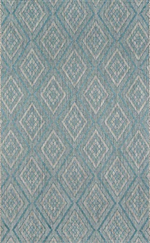 Madcap Cottage LAKEPLAK-1LBL5376 Lake Palace Rajastan Weekend Area, Indoor Outdoor Rug, 5'3