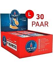 THE HEAT COMPANY Semelles Chauffantes - EXTRA CHAUD - 8 heures de chaleur - chaleur immédiate - autochauffante - purement naturel - LARGE Taille: 41,5-43,5 - 30 paires