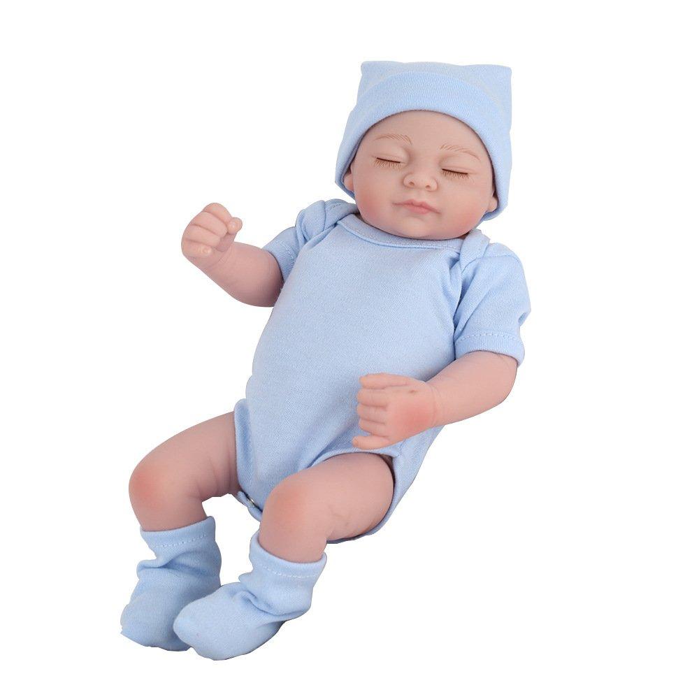 GHCX Muñeca Renacida De La Simulación del Silicón Bebé Lindo Puede Incorporar El Agua para Acompañar El Regalo De Cumpleaños De Los Niños del Juguete De La Comodidad 30CM