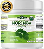 Organic Moringa Oleifera Powder | Supercharge Your Smoothies with Natures Most Potent Superfood | Rich in Vitamin C, E and A, Calcium, Magnesium, Iron, Protein | Boost Energy, Metabolism and Immunity
