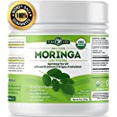 Organic Moringa Powder | Supercharge Your Smoothies with Natures Most Potent Green Superfood | Rich in Vitamins C, E, A, Calcium, Magnesium, Iron, Protein. Boost Energy, Metabolism and Immunity