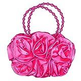 Girls 3D Flower Handbag in Cerise