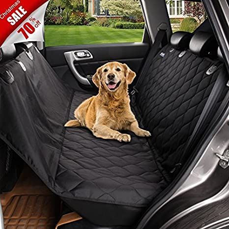 Medium image of acrabros universal fit nonslip waterproof padded quilted convertible hammock dog car seat