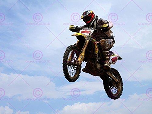 SPORT MOTOCROSS JUMP DIRT BIKE RACE MOTORBIKE SCRAMBLER 18X24'' POSTER ART PRINT LV11173 by Vivo