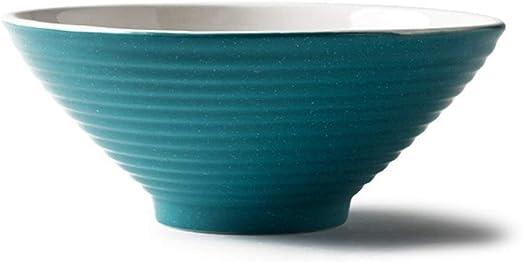 LJFYMX Tazón de Cereales Ensaladera de cerámica, Sopa de Ramen Personalizada Profunda, 5 Colores (tamaño: 17.5 * 7 * 6.5cm) Juego de Mesa: Amazon.es: Hogar